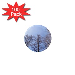 Large Trees In Sky 1  Mini Button Magnet (100 Pack)