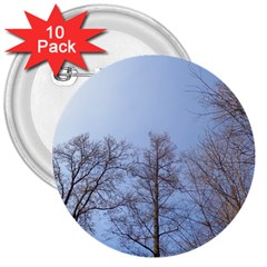 Large Trees In Sky 3  Button (10 Pack)