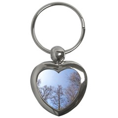 Large Trees In Sky Key Chain (heart)