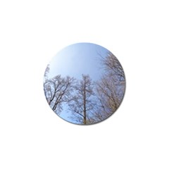 Large Trees in Sky Golf Ball Marker 4 Pack