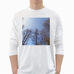 Large Trees in Sky Men s Long Sleeve T-shirt (White)