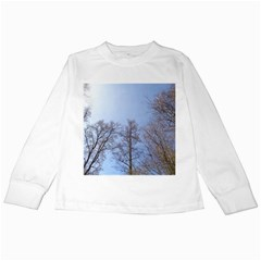 Large Trees in Sky Kids Long Sleeve T-Shirt