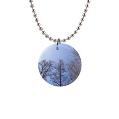 Large Trees In Sky Button Necklace