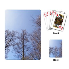 Large Trees In Sky Playing Cards Single Design