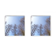 Large Trees In Sky Cufflinks (square)