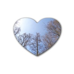Large Trees In Sky Drink Coasters 4 Pack (heart)