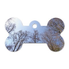 Large Trees In Sky Dog Tag Bone (one Sided)