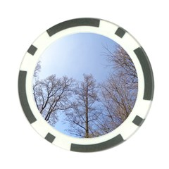 Large Trees In Sky Poker Chip