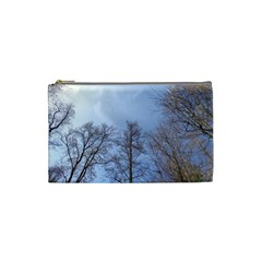 Large Trees In Sky Cosmetic Bag (small)