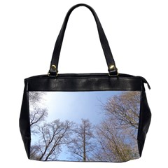 Large Trees In Sky Oversize Office Handbag (two Sides)