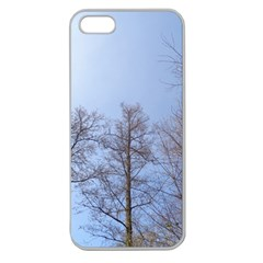 Large Trees In Sky Apple Seamless Iphone 5 Case (clear)
