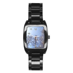 Large Trees In Sky Stainless Steel Barrel Watch