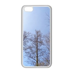 Large Trees in Sky Apple iPhone 5C Seamless Case (White)