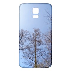 Large Trees in Sky Samsung Galaxy S5 Back Case (White)