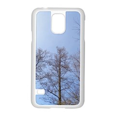 Large Trees In Sky Samsung Galaxy S5 Case (white)