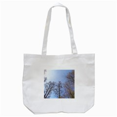 Large Trees in Sky Tote Bag (White)