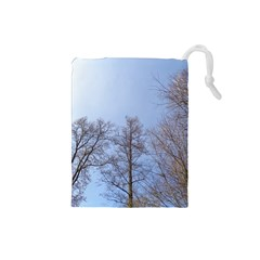 Large Trees In Sky Drawstring Pouch (small)