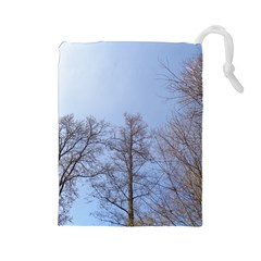 Large Trees in Sky Drawstring Pouch (Large)