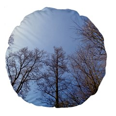 Large Trees In Sky Large 18  Premium Flano Round Cushion