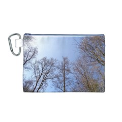 Large Trees in Sky Canvas Cosmetic Bag (Medium)