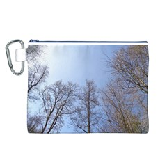 Large Trees in Sky Canvas Cosmetic Bag (Large)