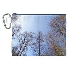Large Trees In Sky Canvas Cosmetic Bag (xxl)
