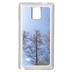Large Trees in Sky Samsung Galaxy Note 4 Case (White)