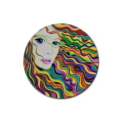 Inspirational Girl Drink Coasters 4 Pack (round)