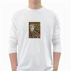 Inspirational Girl Men s Long Sleeve T-shirt (White)