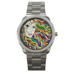 Inspirational Girl Sport Metal Watch