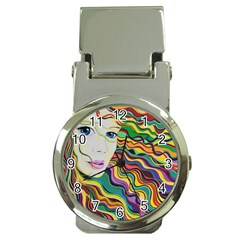 Inspirational Girl Money Clip With Watch