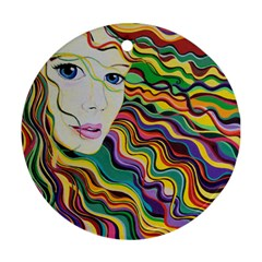 Inspirational Girl Round Ornament (two Sides)
