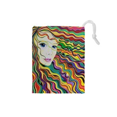 Inspirational Girl Drawstring Pouch (Small)