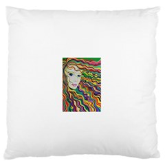 Inspirational Girl Standard Flano Cushion Case (Two Sides)
