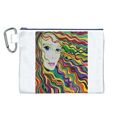 Inspirational Girl Canvas Cosmetic Bag (Large)
