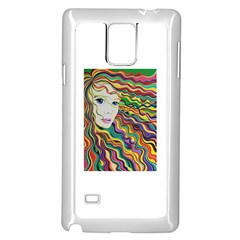 Inspirational Girl Samsung Galaxy Note 4 Case (White)
