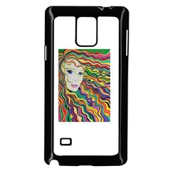 Inspirational Girl Samsung Galaxy Note 4 Case (Black)