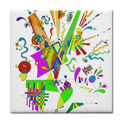 Splatter Life Ceramic Tile
