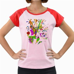 Splatter Life Women s Cap Sleeve T Shirt (colored)