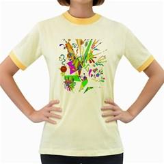 Splatter Life Women s Ringer T-shirt (Colored)