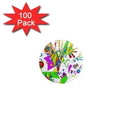 Splatter Life 1  Mini Button Magnet (100 Pack)