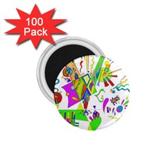 Splatter Life 1 75  Button Magnet (100 Pack)