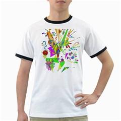 Splatter Life Men s Ringer T Shirt