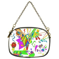 Splatter Life Chain Purse (one Side)