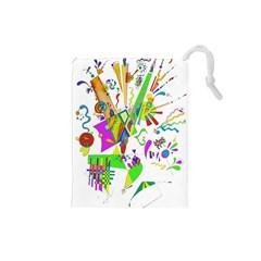 Splatter Life Drawstring Pouch (small)