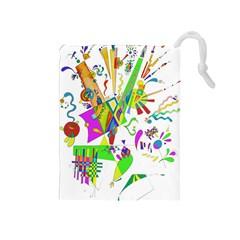 Splatter Life Drawstring Pouch (Medium)