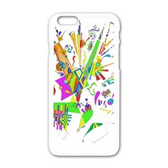 Splatter Life Apple Iphone 6 White Enamel Case