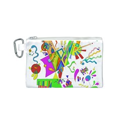 Splatter Life Canvas Cosmetic Bag (Small)