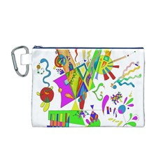 Splatter Life Canvas Cosmetic Bag (Medium)