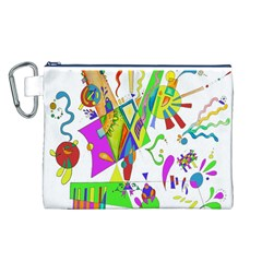 Splatter Life Canvas Cosmetic Bag (Large)